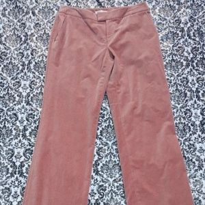 Dana Buchman Dusty Rose Pin Striped Velvet Pants